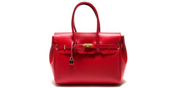 Dámská červená kabelka se zámečkem Roberta Minelli