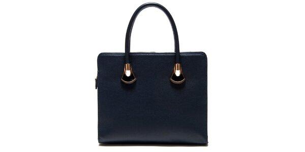 Dámská tmavě modrá čtvercová kabelka Roberta Minelli