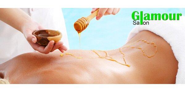 Detoxikační hodinová medová masáž zad