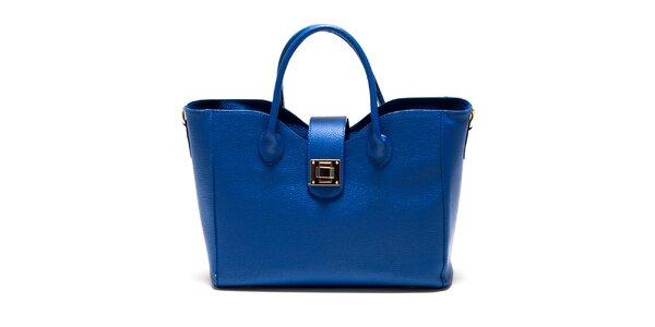 Dámská modrá hranatá kabelka se zámečkem Roberta Minelli