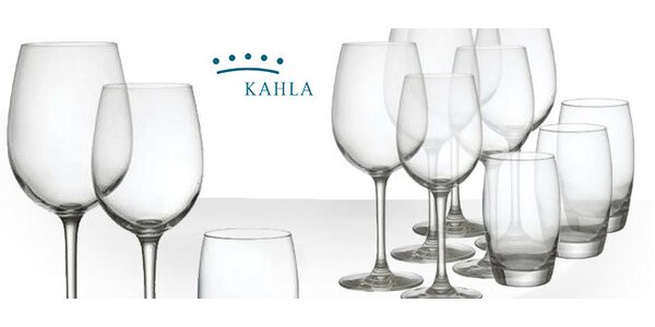12dílná sada sklenic značky Kahla