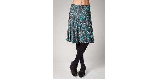 Dámská tmavě hnědá sukně Ungaro s modrozeleným potiskem