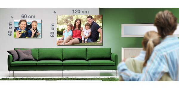Luxusní fotoplátno v dřevěném rámu. 60x40 či 120x80 cm