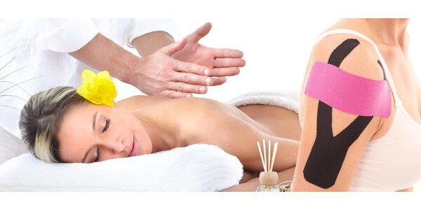 60 minut kineziotapingu nebo klasické masáže