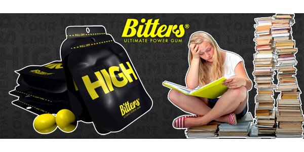 Žvýkačky Bitters pro okamžité dobití energie
