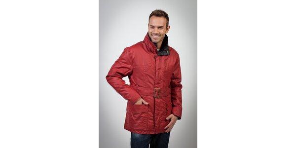 Pánský červený kabát Spagnolo