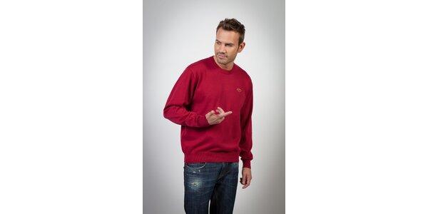 Pánský fialovo-červený svetr Spagnolo