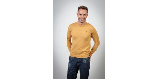 Pánský hořčicový svetr Spagnolo
