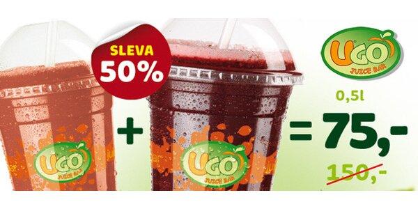 Dva nejoblíbenější drinky UGO Juice Baru za 75 Kč!