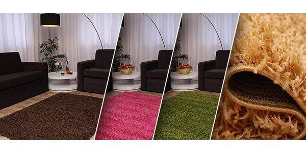 Kvalitní belgické koberce různých barev s vysokým vlasem