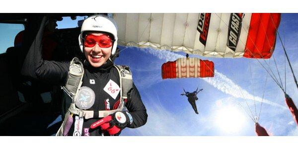Parašutistický výcvik včetně prvního seskoku z letadla