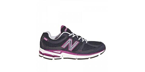 Dámské černé běžecké boty New Balance s fialovými detaily