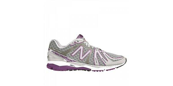 Dámské šedo-fialové běžecké boty New Balance