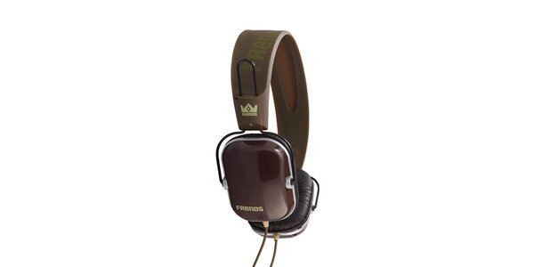Designová zeleno-hnědá sluchátka Frends