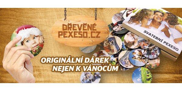 Dřevěné originální pexeso z vašich vlastních fotografií v dřevěné dárkové…