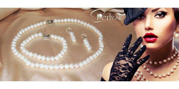 Elegantní sada šperků z pravých perel