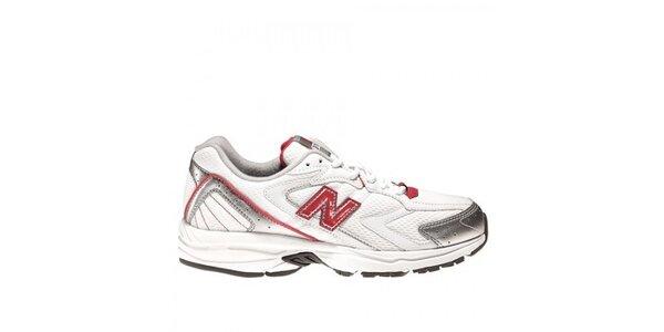 Dámské bílo-červené bežecké boty New Balance