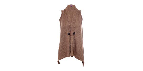Pletená vesta značky Hope 1967 hnědé barvy