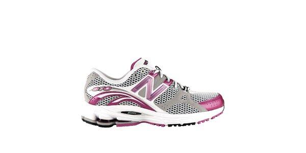 Dámské šedo-růžové běžecké boty New Balance