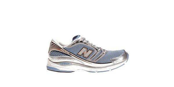 Dámské modro-stříbrné běžecké boty New Balance