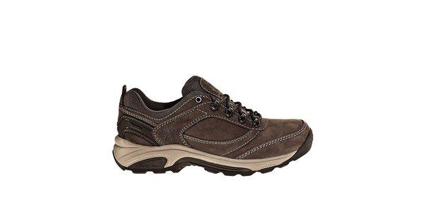 Dámské tmavě hnědé kožené trekingové boty New Balance