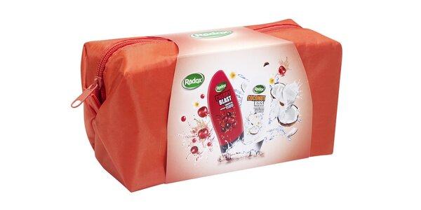 Radox kosmetická taška Ovocná (sprch.gel Cherry Blast 250ml+ sprch.gel Coconut…