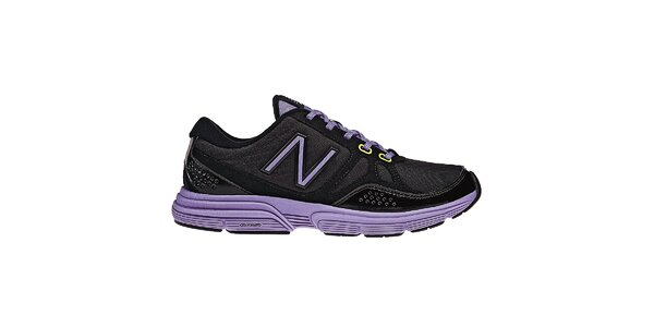 Dámské černé fitness boty New Balance s fialovými detaily