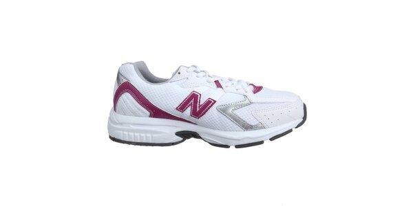 Dámské bílo-růžové bežecké boty New Balance