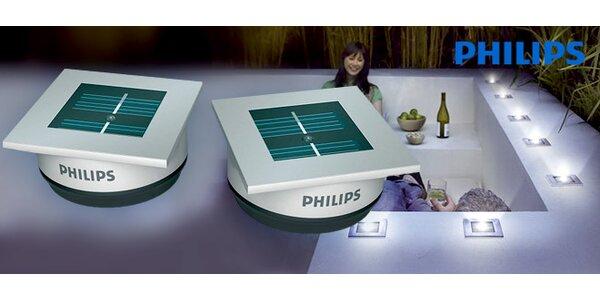 Dvě výkonná solární LED svítidla Philips