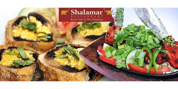 Speciální 4chodové indické menu pro dva