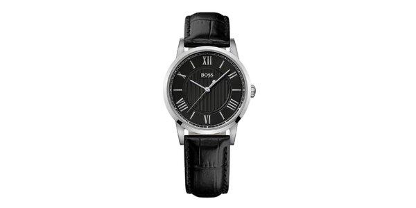 Dámské stříbrné hodinky s černým ciferníkem Hugo Boss Orange