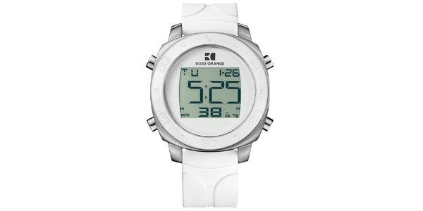 Bílé digitální hodinky Hugo Boss Orange