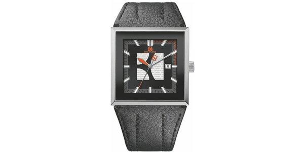 Pánské černé analogové hodinky Hugo Boss Orange
