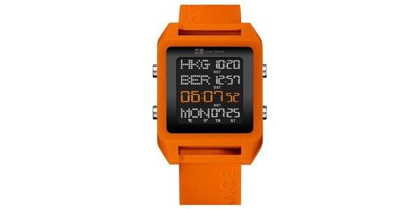 Pánské oranžové digitální hodinky Hugo Boss Orange