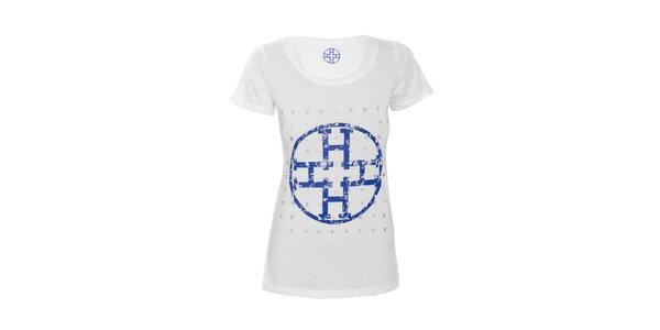 Bílé bavlněné tričko značky Hope 1967 s potiskem hvězd