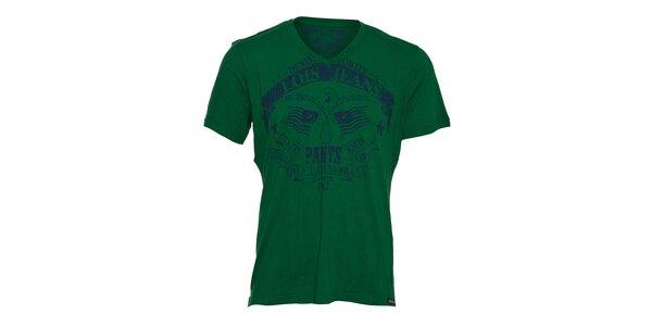 Pánské zelené tričko Lois s potiskem