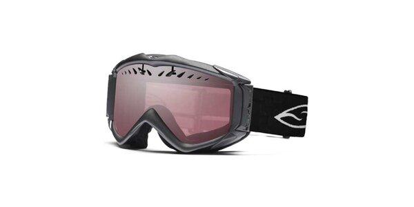 Lyžařské brýle Smith s růžově zabarvenými skly