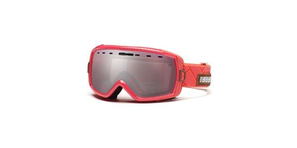 Korálové lyžařské brýle Smith se zrcadlovým efektem