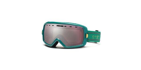 Zelené lyžařské brýle Smith se zrcadlovým efektem