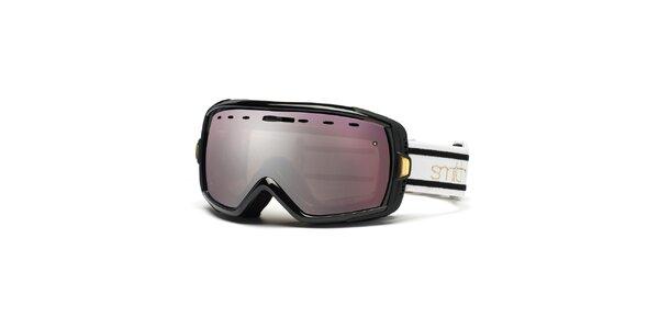 Černé lyžařské brýle Smith se zrcadlovým efektem