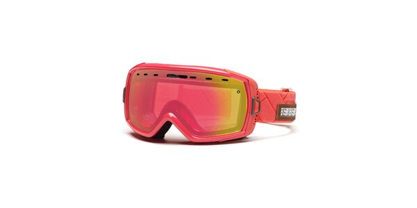 Korálové lyžařské brýle Smith s duhovými sklíčky se zrcadlovým efektem