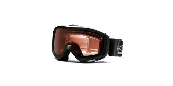 Černé robustní lyžařské brýle Smith