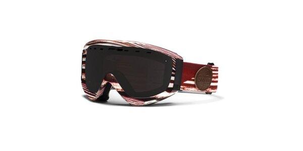 Bílo-červené vzorované brýle Smith s kouřovými skly
