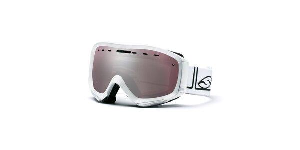 Bílé lyžařské brýle s kouřovými sklíčky Smith