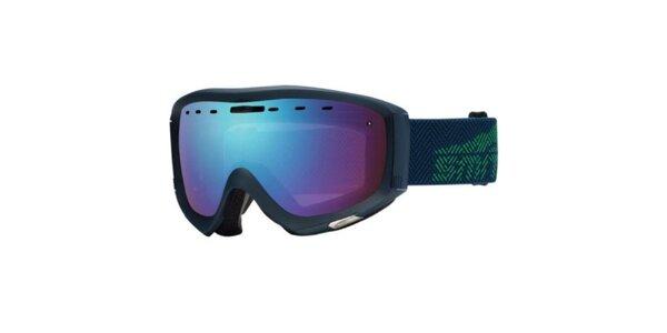 Tmavě modré lyžařské brýle Smith s duhovými sklíčky