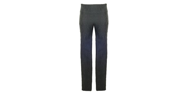 Dámské černé vzorované kalhoty Hype