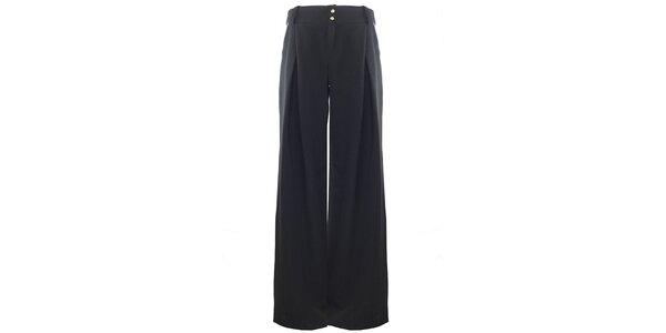 Dámské široké černé kalhoty Hype