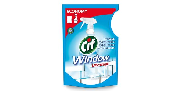 Cif okna a sklo Ultrafast náhradní náplň 750 ml