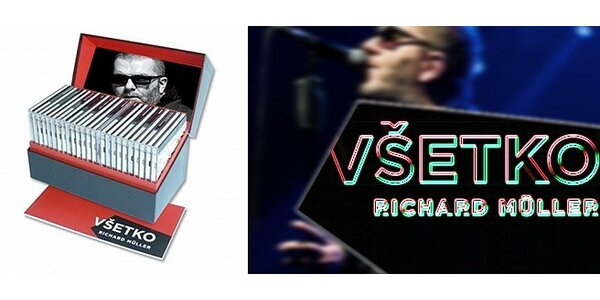 Richard Müller: Celoživotní diskografie (25 CD) + Dan Bárta, Michal Horáček