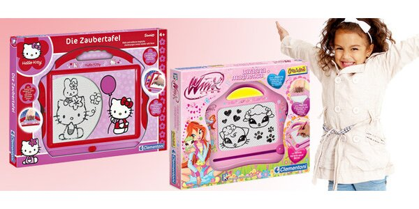 Kreslicí tabulky Hello Kitty a Winx